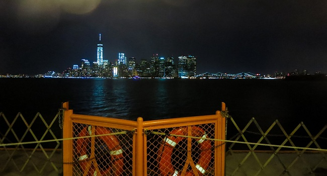 Staten Island Ferry at night