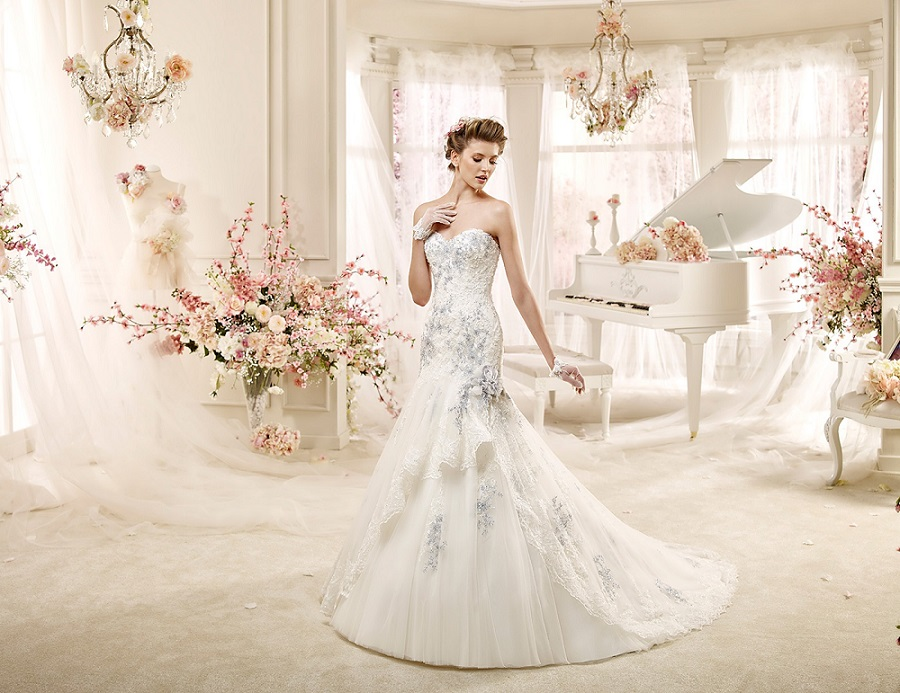 MODERN BRIDAL GOWNS IN BLUE