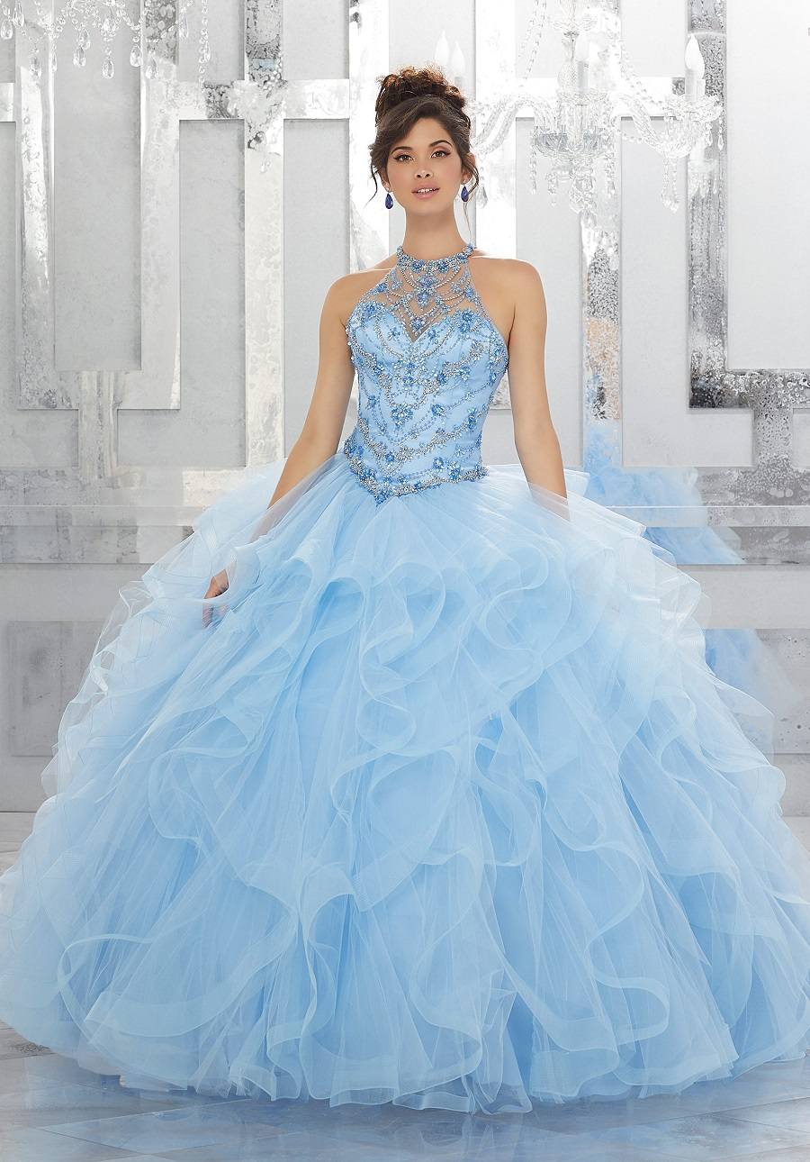 MODERN BRIDAL GOWNS IN BLUE112