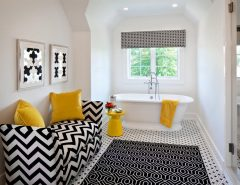 How to decorate a bathroom in black and white
