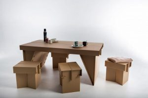 Furniture Made from Recycled Cardboard