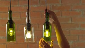 Lamps with Glass Bottles